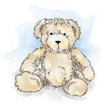 De Teddybeer van de tekening royalty-vrije illustratie