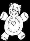 De Teddybeer van Halloween royalty-vrije illustratie
