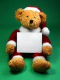 De Teddybeer van Kerstmis stock afbeeldingen