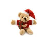 De teddybeer van Kerstmis Stock Foto