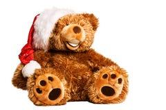 De teddybeer van Kerstmis op wit Royalty-vrije Stock Foto's