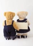 De teddybeer van paren Stock Foto