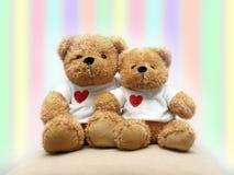 De teddyberen van de valentijnskaart Stock Afbeeldingen