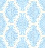 De tedere achtergrond van het damast uitstekende bloemen naadloze patroon Royalty-vrije Stock Afbeelding