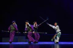 """ de teenager†de Pékin Opera""""Yue des combattre-enfants de nuit Photographie stock"""