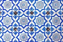 De tegel Nederlands patroon van Holland oud helder multicolored retro het schilderen ornament uitstekend blauw wit stock afbeelding