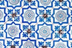 De tegel Nederlands patroon van Holland oud helder multicolored retro het schilderen ornament uitstekend blauw wit royalty-vrije stock afbeelding