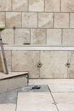 De Tegel van de badkamers remodelleert Project stock fotografie