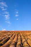 De tegel van het dak Stock Foto's