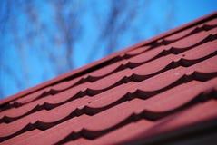 De tegel van het dakmetaal Stock Fotografie