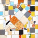 De tegel van Pettern multicolored op muur Stock Foto's