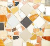 De tegel van Pettern multicolored op muur Royalty-vrije Stock Afbeelding