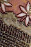 De tegeldetail van de bloem Stock Afbeeldingen