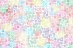 De tegelmuur van het pastelkleurmozaïek Stock Foto