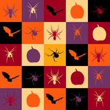 De tegels van Halloween stock illustratie