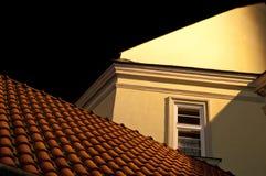 De tegels van het dak bij nacht Stock Afbeelding