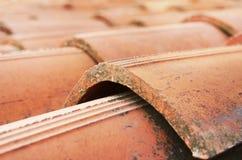 De tegels van het dak Sluit omhoog beeld royalty-vrije stock afbeeldingen