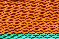 De Tegels van het dak van Wat Phra Kaew Stock Afbeeldingen