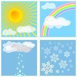 De Tegels van het weer #1 Royalty-vrije Stock Afbeeldingen