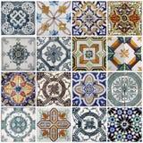 De tegels van Lissabon Stock Afbeeldingen