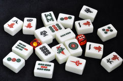 De tegels van Mahjong Stock Fotografie