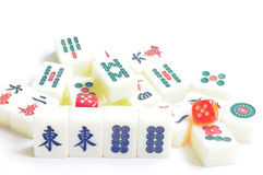 De tegels van Mahjong Stock Foto