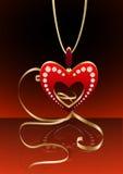 De tegenhanger van het hart met bezinning stock illustratie