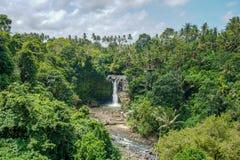 De Tegenunganwaterval is een populaire bestemming voor toeristen die Bali, Indonesië bezoeken royalty-vrije stock afbeelding