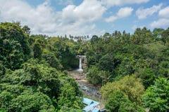 De Tegenunganwaterval is een populaire bestemming voor toeristen die Bali, Indonesië bezoeken royalty-vrije stock fotografie