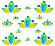De tekening bloeit naadloze textuur vector illustratie
