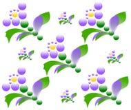 De tekening bloeit naadloze textuur stock illustratie