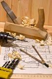 De tekening en het hulpmiddel Stock Foto