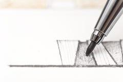 De Tekening van de architectuur Stock Foto's