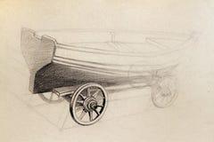 De tekening van de boot Stock Fotografie