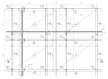 De tekening van de bouw Stock Fotografie
