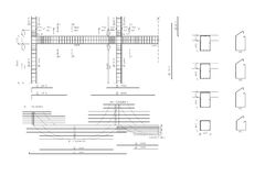 De tekening van de bouw, concreet anker Royalty-vrije Stock Fotografie