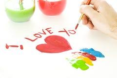 De Tekening van de Dag van valentijnskaarten Stock Fotografie