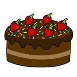 De tekening van de de cakehand van het beeldverhaal Stock Foto