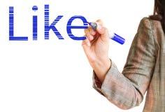 De tekening van de hand als geïsoleerdp op wit Stock Afbeelding
