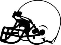 De Tekening van de Helm van de voetbal Stock Afbeelding