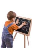 De tekening van de jongen royalty-vrije stock afbeeldingen