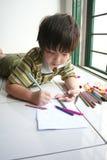 De tekening van de jongen Stock Fotografie