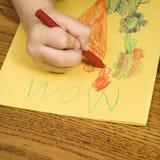 De tekening van de jongen. Stock Afbeeldingen