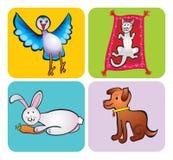 De tekening van de kinderen van dieren Royalty-vrije Stock Foto's