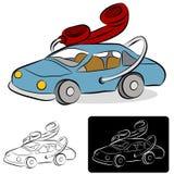 De Tekening van de Lijn van de autotelefoon Royalty-vrije Stock Afbeeldingen