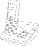 De Tekening van de Lijn van de telefoon Royalty-vrije Stock Afbeeldingen