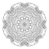 De tekening van de Mandalakrabbel Bloemen rond ornament Royalty-vrije Stock Fotografie
