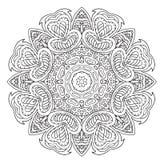 De tekening van de Mandalakrabbel Bloemen rond ornament Royalty-vrije Stock Foto's