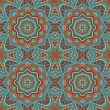 De tekening van de Mandalakrabbel Kleurrijk bloemen naadloos ornament Stock Afbeeldingen