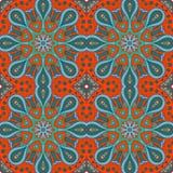 De tekening van de Mandalakrabbel Kleurrijk bloemen naadloos ornament Stock Foto's